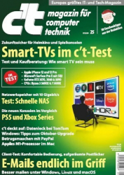 :  ct Magazin für Computertechnik No 25 vom 21 November 2020